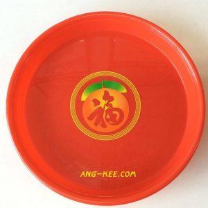 ถาดแดง 15 นิ้ว ลายส้มฮก 90 บาท