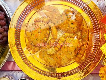 ขนมมงคลยกเสาเอก ปลูกบ้าน ปลาปูกุ้ง